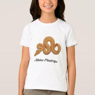 白子の細い縦縞 Tシャツ