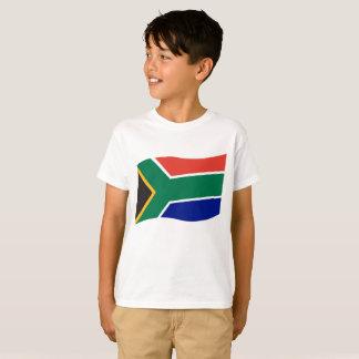 白子供の南Afrianの旗のTシャツ Tシャツ