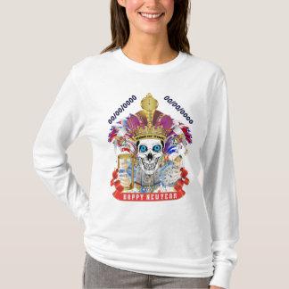 白新年の女性の(前部) Tシャツ