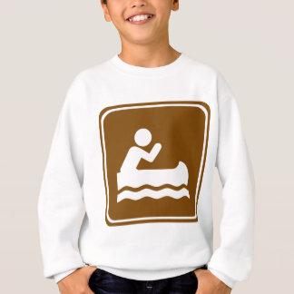 白濁水のカヌーをこぐハイウェーの印 スウェットシャツ