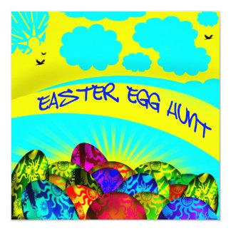白熱イースターエッグのイースターエッグの狩りの招待状 カード