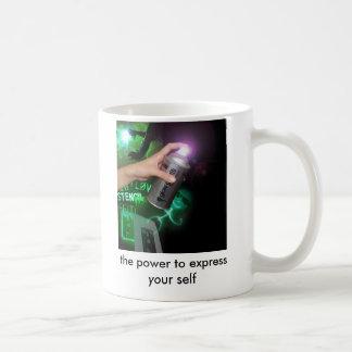 白熱落書き、あなたの自己を表現する力 コーヒーマグカップ