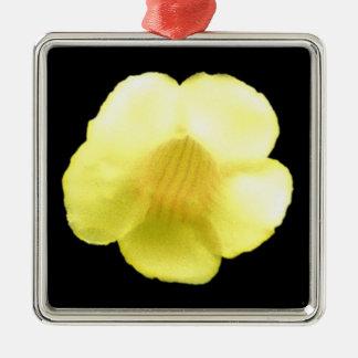 白熱[赤熱]光を放つで黄色い花 メタルオーナメント
