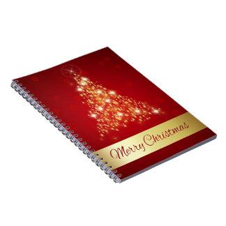 白熱[赤熱]光を放つなクリスマスツリー-ノート ノートブック