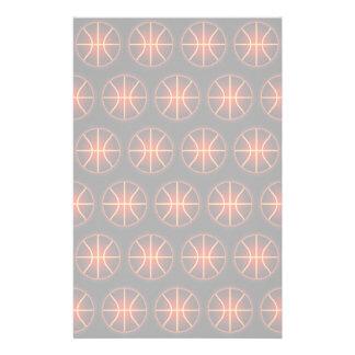 白熱[赤熱]光を放つなバスケットボールパターン 便箋
