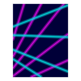 白熱[赤熱]光を放つなライン ポスター