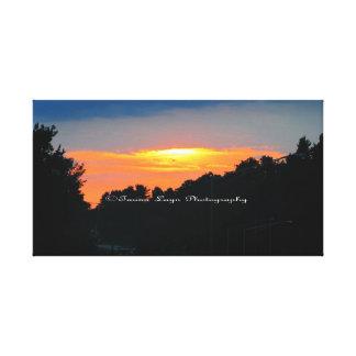 白熱[赤熱]光を放つな日没のキャンバス キャンバスプリント