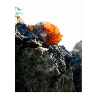 白熱[赤熱]光を放つな石 ポストカード