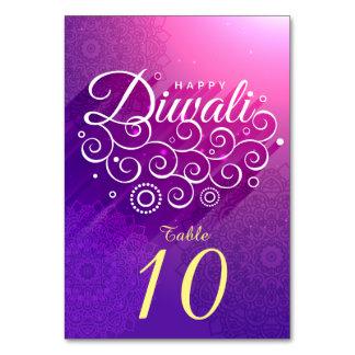 白熱[赤熱]光を放つな紫色の神のつる植物のオーナメント幸せなDiwali カード