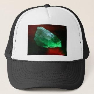 白熱[赤熱]光を放つな緑の水晶 キャップ