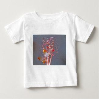 白熱[赤熱]光を放つな繊維光学の蝶 ベビーTシャツ