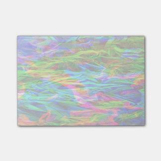 白熱[赤熱]光を放つな虹の抽象芸術 ポストイット