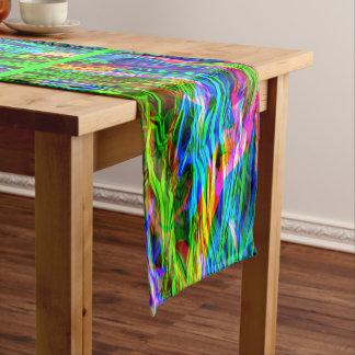 白熱[赤熱]光を放つな虹の抽象芸術 ミディアムテーブルランナー