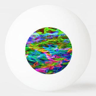 白熱[赤熱]光を放つな虹の抽象芸術 卓球ボール