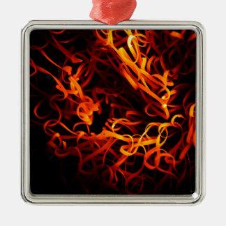 白熱[赤熱]光を放つな鋼鉄ウール メタルオーナメント
