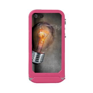 白熱[赤熱]光を放つな電球の割れたガラス煙の写真 ウォータープルーフiPhone SE/5/5sケース