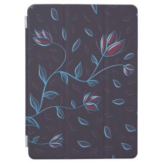 白熱[赤熱]光を放つな青の抽象芸術の花 iPad AIR カバー