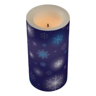 白熱Snowflakes2_Starry Night_Merryのクリスマスの気分 LEDキャンドル