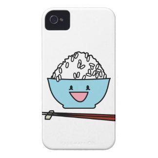白米の箸のキャブレターの幸せなボール Case-Mate iPhone 4 ケース