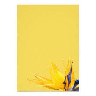 白紙を結婚している黄色い極楽鳥 カード