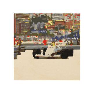 白色人種車都市回路 ウッドウォールアート