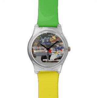 白色人種車都市回路 腕時計
