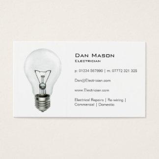 白色光の球根の電気技師-名刺 名刺