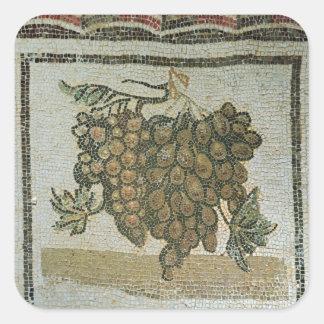 白葡萄の束、ローマのモザイク 正方形シール・ステッカー