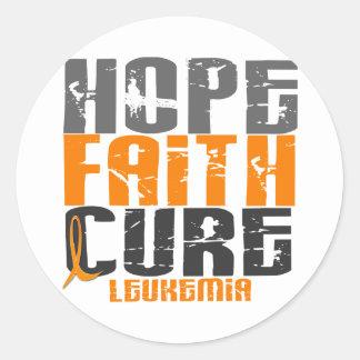 白血病の希望の信心療法 ラウンドシール