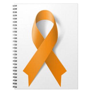 白血病の認識度のリボン ノートブック