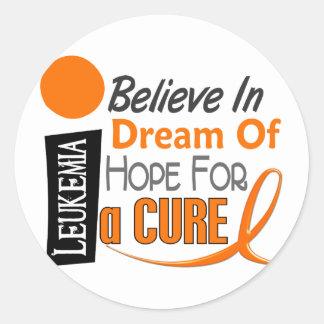 白血病の認識度は夢の希望を信じます ラウンドシール