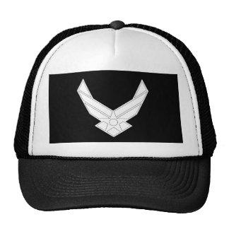 白輪郭を描かれる空軍記章- ハット