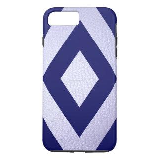 白革の濃紺のダイヤモンドのiPhone 7Plusの場合 iPhone 8 Plus/7 Plusケース