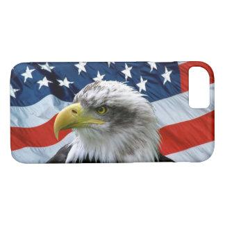 白頭鷲および米国旗 iPhone 8/7ケース