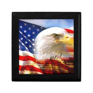白頭鷲が付いている米国旗 ギフトボックス