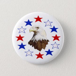 白頭鷲のアメリカ人の星 缶バッジ