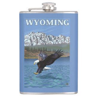 白頭鷲のダイビング-ワイオミング フラスク