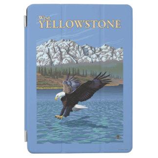 白頭鷲のダイビング-西のイエローストーン、MT iPad AIR カバー