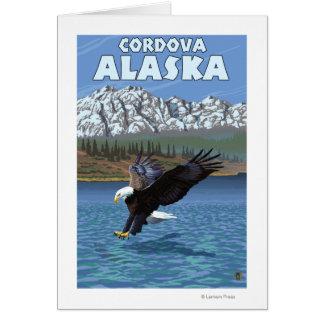 白頭鷲のダイビング- Cordova、アラスカ カード