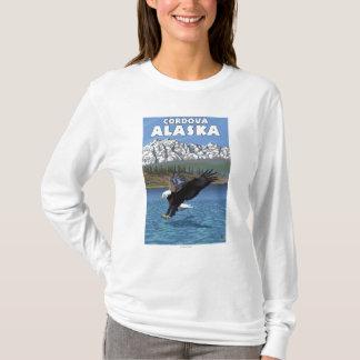 白頭鷲のダイビング- Cordova、アラスカ Tシャツ