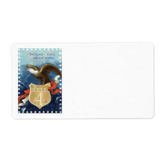 白頭鷲の星条旗7月第4 ラベル