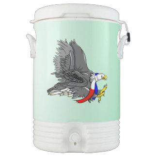 白頭鷲の漫画の絵 ドリンククーラー