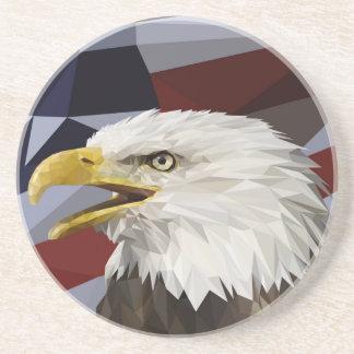 白頭鷲の米国旗のコースター コースター