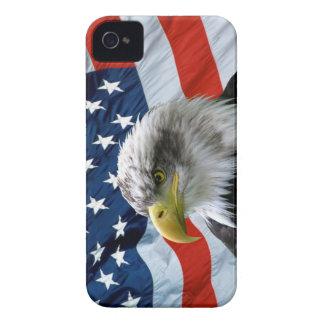 白頭鷲の米国旗のiPhoneの場合 Case-Mate iPhone 4 ケース