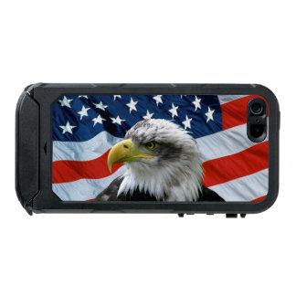 白頭鷲の米国旗のiPhone 5の場合 ウォータープルーフiPhone SE/5/5sケース