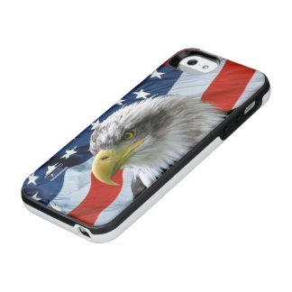 白頭鷲の米国旗 iPhone SE/5/5sバッテリーケース