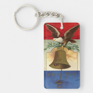 白頭鷲の自由の鐘の愛国心が強いヴィンテージの芸術 キーホルダー