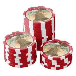 白頭鷲の自由の鐘の愛国心が強いヴィンテージの芸術 ポーカーチップ