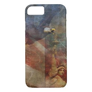 白頭鷲の芸術の愛国心が強いiPhone 7の貝 iPhone 8/7ケース
