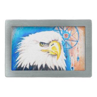 白頭鷲のDreamcatcherの芸術 長方形ベルトバックル